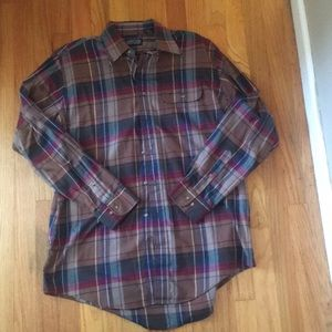 Lands end men's flannel shirt